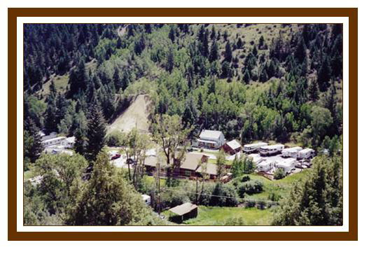 Cottonwood RV Campground Colorado view from mountainside