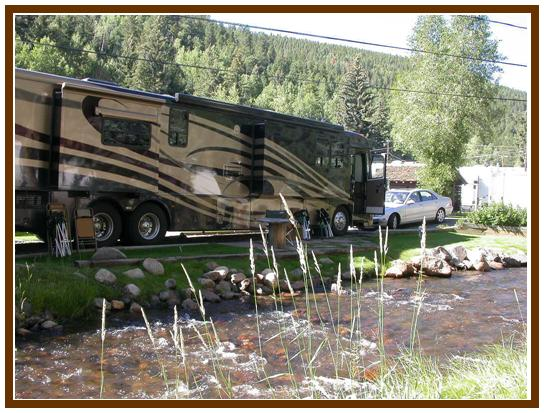 Cottonwood RV space 12 by Chicago Creek