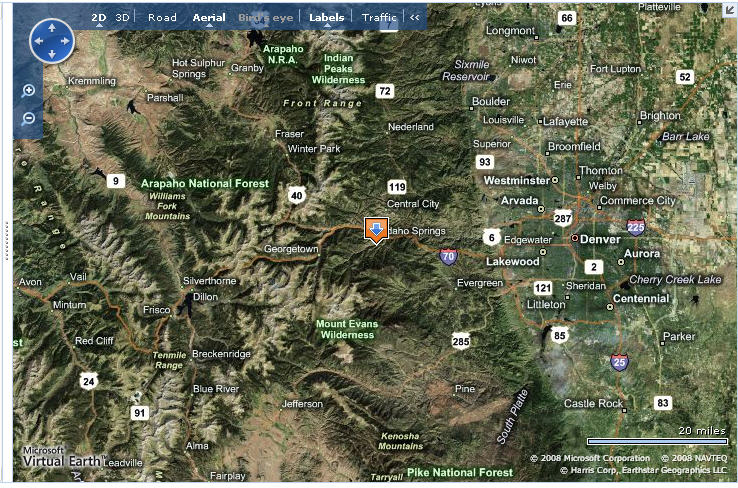 Find Us Cottonwood Rv Campground In Idaho Springs Colorado Clear